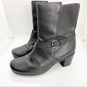 Abeo Pacifica Comfort Black Leather Boots 7.5N